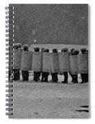 Riot Police In Kyiv Spiral Notebook