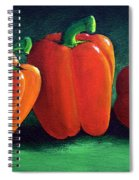Ripe Red Peppers Spiral Notebook