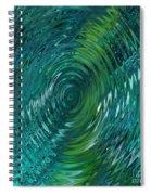 Ripple Sea Glass  Spiral Notebook