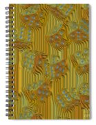 Rippled Dice Abstract Spiral Notebook
