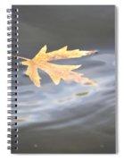 Rippled Maple Leaf Spiral Notebook