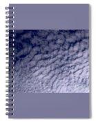 Ripples In The Dark Blue Sky Spiral Notebook
