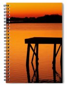 Ripples Of Copper Spiral Notebook