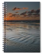 Ripples On The Beach Spiral Notebook