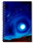 Rising Desert Moon Spiral Notebook