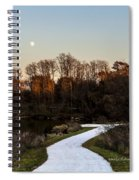 Rising Moon Fishing Spiral Notebook