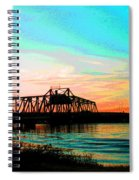 Rising Sun On The Mokelumne River Spiral Notebook