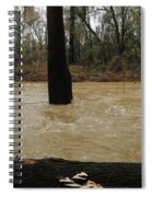Rising Waters With Timber Spiral Notebook