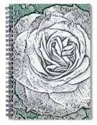 Ritzy Rose With Ink And Green Background Spiral Notebook
