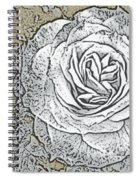 Ritzy Rose With Ink And Taupe Background Spiral Notebook