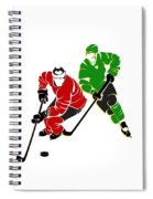 Rivalries Blackhawks And North Stars Spiral Notebook