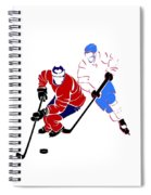 Rivalries Canadiens And Nordiques Spiral Notebook