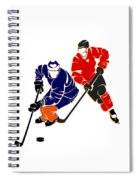 Rivalries Oilers And Flames Spiral Notebook