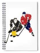 Rivalries Penguins And Capitals Spiral Notebook