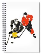 Rivalries Penguins And Flyers Spiral Notebook