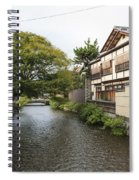 River And Houses In Kyoto Japan Spiral Notebook