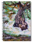 River And Plane Tree Spiral Notebook