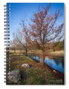 River And Winter Trees Spiral Notebook