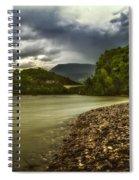 River Below The Clouds Spiral Notebook