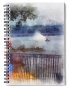 River Boat Speed Racing Vertical Photo Art Spiral Notebook