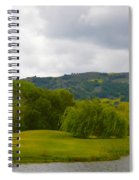 River Course At Alisal Solvang California 6 Spiral Notebook