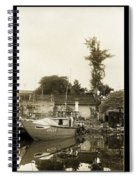 River Fishing Boat In Hoi An Spiral Notebook