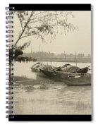 River Fishing Boats In Hoi An Spiral Notebook