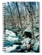River Flowing Through A Valley, Hudson Spiral Notebook