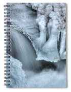 River Ice Spiral Notebook
