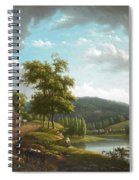 River Landscape With Farmhouse Spiral Notebook