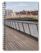 River Liffey Boardwalk In Dublin Spiral Notebook
