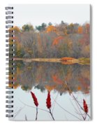 River Mirror Autumn Spiral Notebook