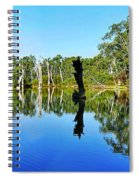 River Panorama And Reflections Spiral Notebook