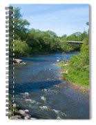 River Passing Through A Forest, Beaver Spiral Notebook