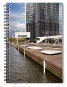 River Promenade In Rotterdam Spiral Notebook