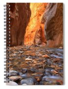 River Rocks In The Narrows Spiral Notebook
