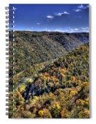 River Running Through A Valley Spiral Notebook
