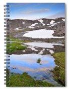 River San Juan And Lakes At Sunset Spiral Notebook