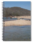 The Black River In Winter Spiral Notebook