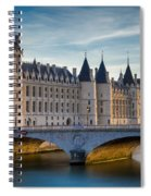 River Seine With Conciergerie Spiral Notebook