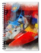 River Speed Boat Number 2 Photo Art Spiral Notebook