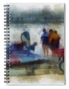 River Speed Boat Photo Art Spiral Notebook