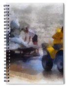 River Speed Boat White Photo Art Spiral Notebook