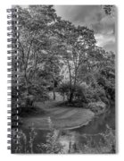 River Tranquility Monochrome Spiral Notebook