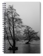 River Trees And Fog Spiral Notebook
