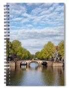 River View Of Amsterdam In The Netherlands Spiral Notebook