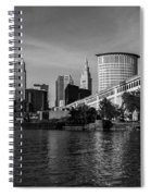 River View Of Cleveland Ohio Spiral Notebook