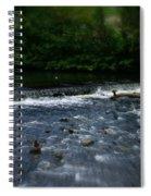 River Wye Waterfall - In Peak District - England Spiral Notebook