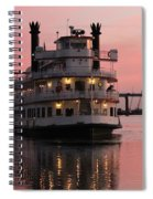 Riverboat At Sunset Spiral Notebook