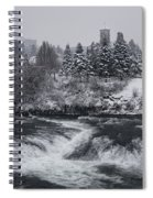 Riverfront Park Winter Storm - Spokane Washington Spiral Notebook